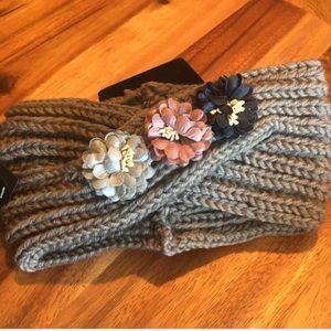 New Ciel Headband, Gray with floral trim. Box A